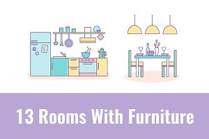 13 Rooms With Furniture