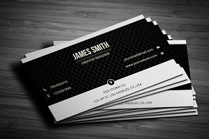 Black & White Minimal Business Card3