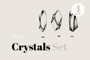 Vector Crystals Icon Set