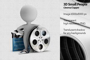 3D Small People - Cinema Clapper