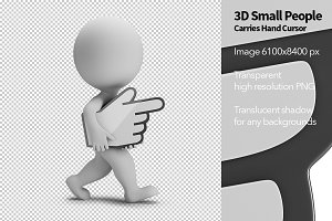 3D Small People - Hand Cursor