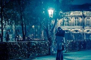 Paris Lovers on the Pont des Arts