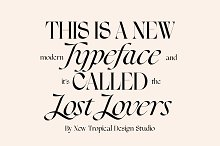 Lost Lovers Serif Typeface