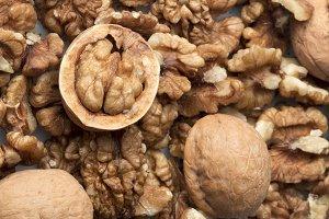 Walnut Dry fruit texture