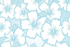 Hibiscus seamless floral pattern