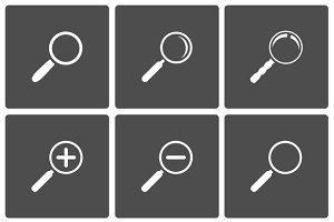 Magnifier and Zoom Icons