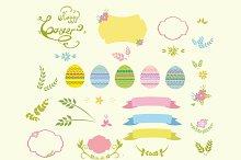 Easter design elements vector set