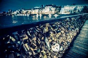 Pont des Arts Locks at Night