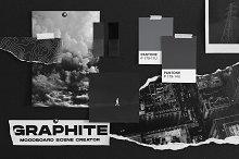 Graphite | Moodboard Scene Creator by  in Mockups