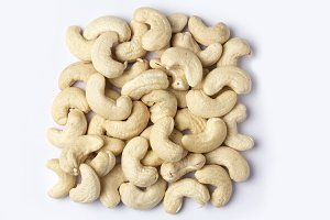 cashew nuts isolated on white