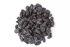 Black Raisins Isolated