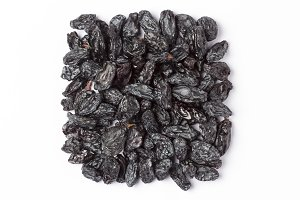 Black Raisins Isolated