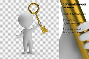 3D Small People - Golden Key
