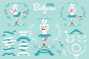 """Little ballerina"" vector set"