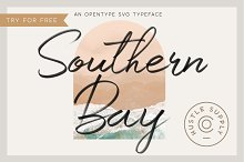 Southern Bay - Opentype SVG Typeface by  in Fonts