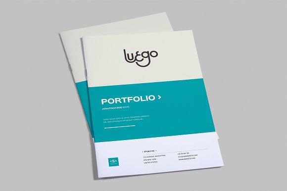 indesign portfolio template brochure templates creative market