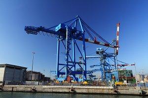 crane in Genova port