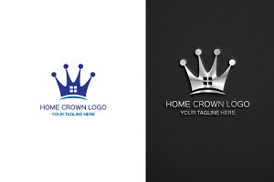 Crown Home logo Template