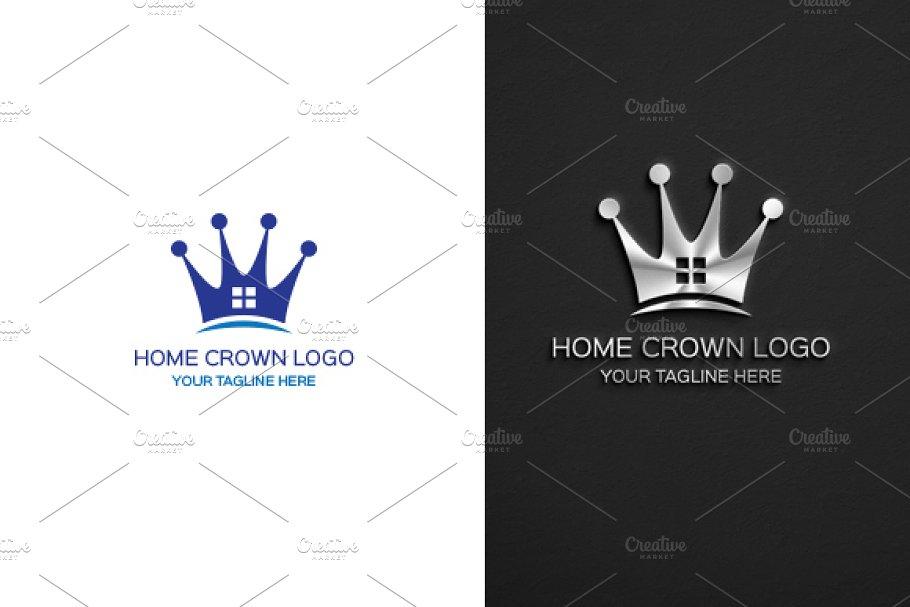 Crown Home logo Template