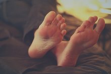 Lazy Feet in Bed