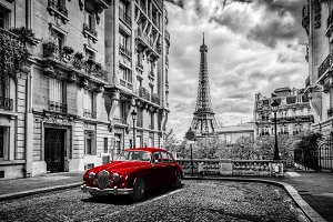 Artistic Paris in black and white.