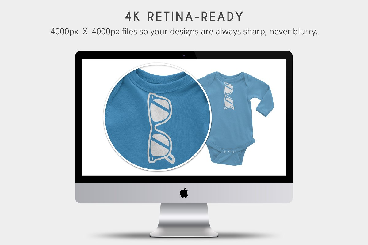 Infant Long Sleeve Onesie Mockups in Product Mockups - product preview 1