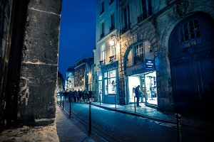 Marais Street at Night