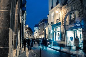 Evening Shopping in the Marais