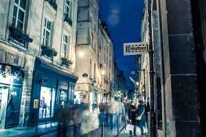 Busy Streets in the Marais