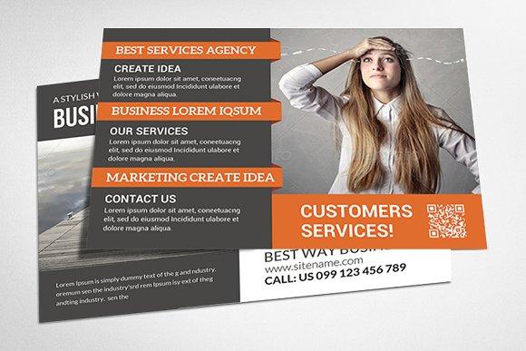Corporate postcard bundle card templates creative market accmission Choice Image