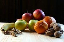 Various fruits close up