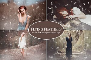 Flying Feathers photo overlays