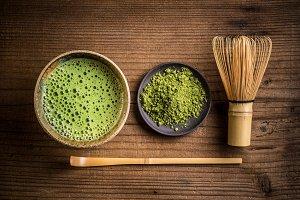 Japanese tea ceremony setting