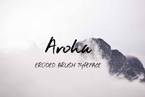 Aroha Brush Typeface