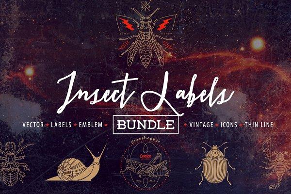 Insect Labels Bundle