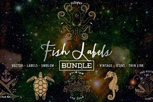 Fish Labels Bundle