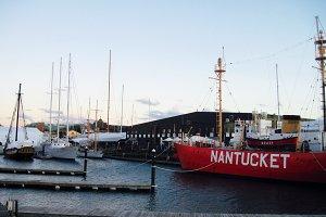 Red Nantucket Ship