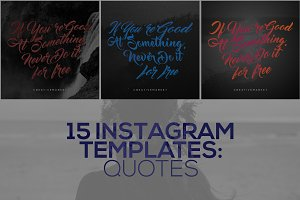 15 Instagram Templates vol.5: Quotes