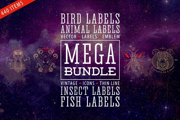 Mega Bundle of Labels • 90% OFF