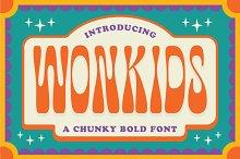 Wonkids Bold & Chunky Font
