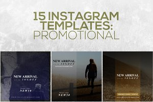 15 Instagram Templates vol.7: Promo