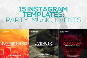 15 Instagram Templates vol.8: Party