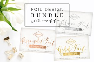 50% OFF Rose Gold Silver Foil Bundle