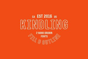 Kindling - Hand Drawn Font