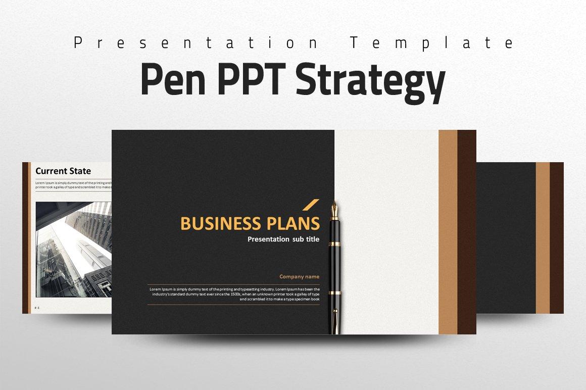 Pen ppt strategy presentation templates creative market alramifo Gallery
