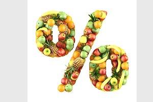 fruit symbol %