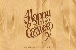 Hand draw inscription happy Easter