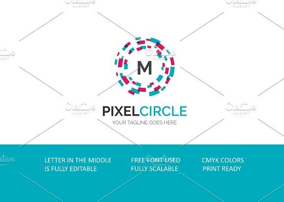 Pixel Circle V3 Logo in Logo Templates