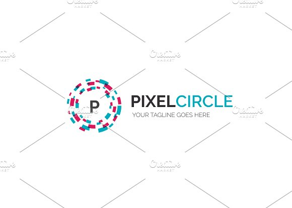 Pixel Circle V3 Logo in Logo Templates - product preview 1