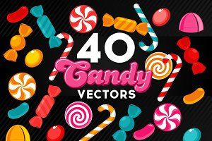 40 Candy Vector Set